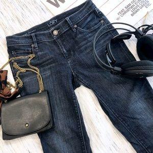 Loft Modern Skinny Ankle Zip Jeans Size 26P /2P